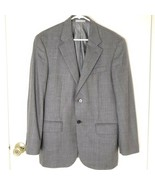 OSCAR DE LA RENTA MENS GRAY SPORTS COAT BLAZER SZ 38R WOOL & CASHMERE 2 ... - $16.69