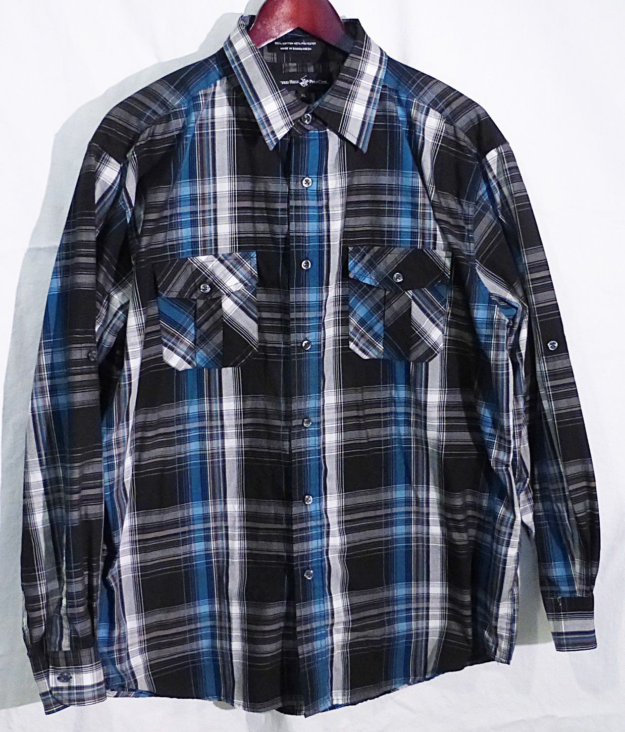 Beverly Hills Polo Club men XL gray plaid and 50 similar items