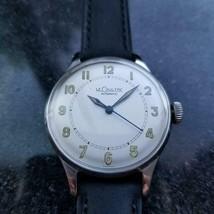 LECOULTRE Men's cal.12A Manual Hand-Wind Field Watch c.1950s Swiss Vinta... - $2,842.00