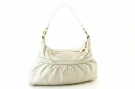 Fendi Leather Charm Borsa a Spalla Bianco Auth 8471 - $299.68