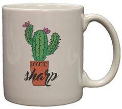 Lookin' Sharp Funny Cactus 11 Oz Ceramic Coffee Mug - $11.83