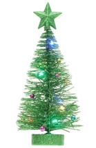 """Philips Battery Operated 7"""" Green Glitter Multicolored LED Lights Christmas Tree image 2"""