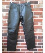 Xelements new Women's Leather Riding Pants sz 12 Black Motorcycle # 7600 - $95.00
