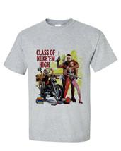Class of Nuke Em High T-shirt retro vintage horror Troma movie gray Distressed image 1