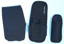 3 Tactical Utility Accessory Belt Clip Pouches Black Nylon Security EMS ... - $12.86