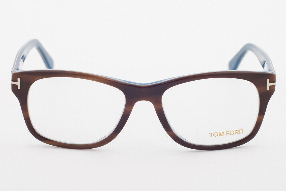 Tom Ford 5147 056 Striped Havana / Dark Blue Eyeglasses TF5147 056 52mm