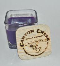 New Canyon Creek Candle Company 9oz Cube Jar French Lilac Handmade - $23.94