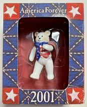 American Greetings America Forever 2001 patriotic bear ornament 01810094... - $8.89