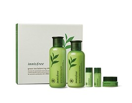 Innisfree Green Tea Balancing Skin Care Set (For Normal To Combination S... - $35.53