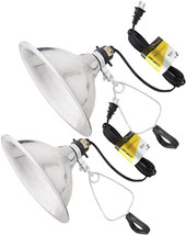 Simple Deluxe 2-Pack Clamp Lamp Light with 8.5 Inch Aluminum Reflector up to 150 - $22.99+