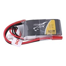 Tattu 800mAh 7.4V 45C 2S1P LiPo Battery Pack with JST-SYP Plug for Small... - $12.47