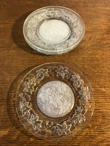 """Set of 4 Princess House Fantasia 8"""" Luncheon Plates Frosted Center - $14.24"""