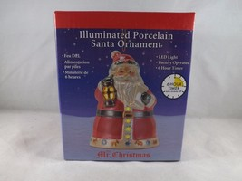 Mr. Christmas Illuminated Porcelain Ornament - New - Santa Claus - $16.14