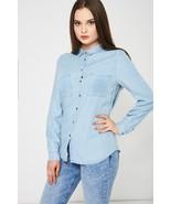 Light Blue Denim Shirt Sizes 10, 12, 14, 16, 18 Brand NEW - $21.24