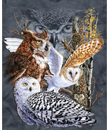 Owls of the  world cross stitch pattern thumbtall