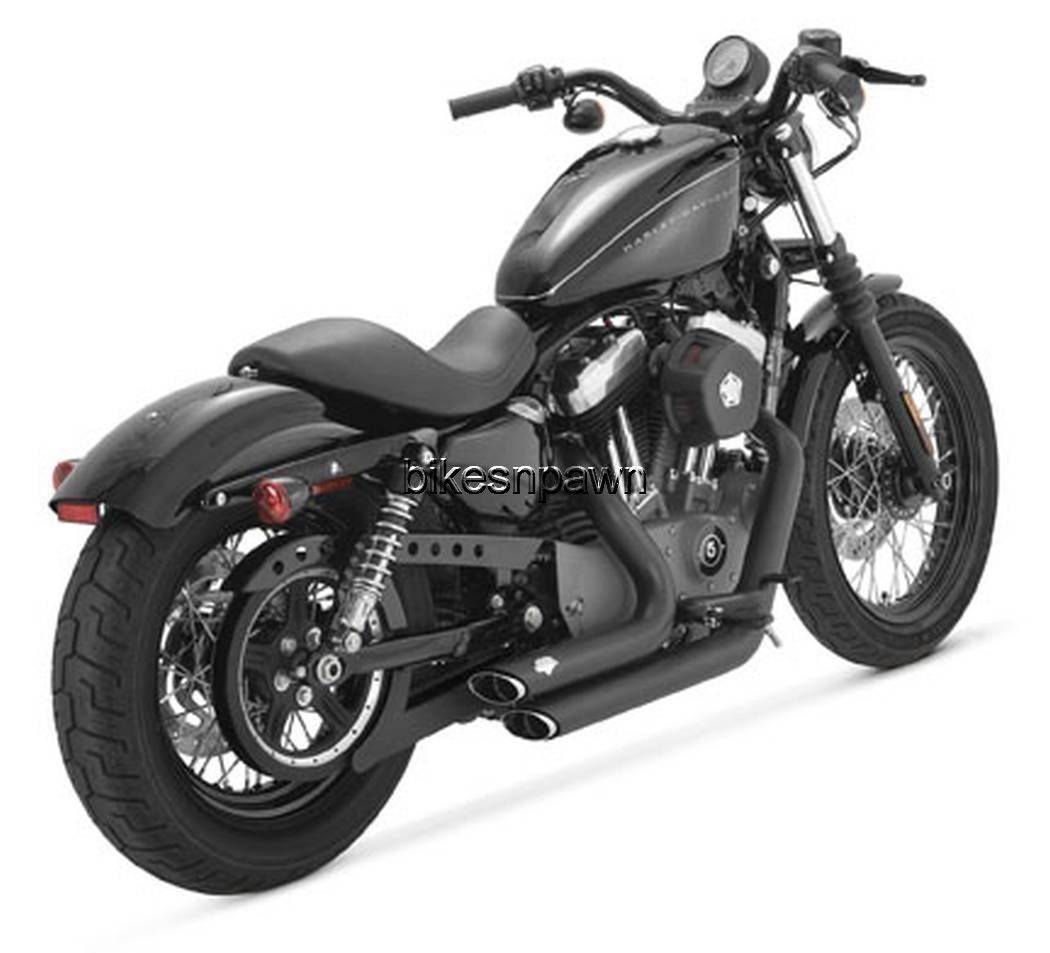 New Vance & Hines Shortshots Staggered Black 2004-2013 Sportster XL Harley