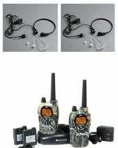 2 Walkie Talkies Midland GXT1050 +2 Laringofonos 56KM 5W Resistant Syste... - $156.41