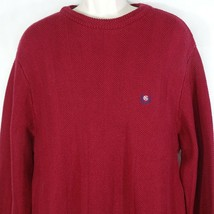Vintage Chaps Ralph Lauren Crewneck Sweater Textured Men Size M Burgundy... - $24.74