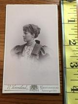 CDV Carte De Viste Pretty Young Lady Nice Dress Sweden Studio Artwork 1889! - $6.00
