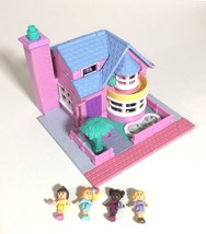 Polly Pocket Bay Window Country House Light Up 4 Figures Vintage Bluebir... - $49.95