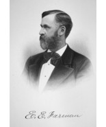 ELBERT FARMAN Consul-General at Cairo Egypt - SUPERB Portrait 1877 Antiq... - $13.86