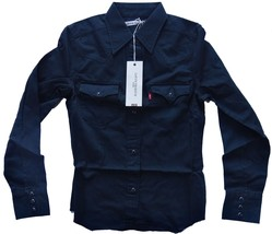 Levi's Women's Premium Snap Button-Up Shirt #2543 Black Free Shipping Ne... - $29.40+