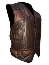 Men Holden Lost Girl Dyson Designer Brown Leather Vest image 2