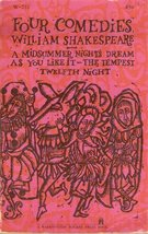 Four Comedies: A Midsummer Nights Dream, As you Like it, The Tempest, an... - $8.10