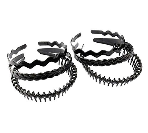 Primary image for Hair Hoop Black Plastic Hoop Hair Band Unisex Head Band Accessory 6pcs,B