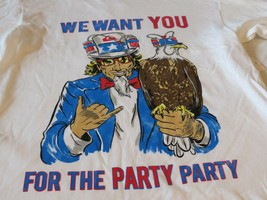 Party Rock We want you for the USA beer hat Quiksilver Men's T shirt M M... - $15.03