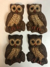 Vintage Owl Wall Hanging Lot Of Four Owls - $17.77