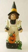 Wooden Witch Halloween Decoration Frog Pumpkin - $14.99