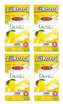 Cloetta Läkerol Dents Lemon + Vitami Swedish Xylitol Candies 36g * 4 pack - $13.86