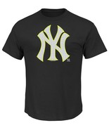 MLB New York Yankees Game Maker Short Sleeve Basic Black Crew Neck Soft ... - $15.95