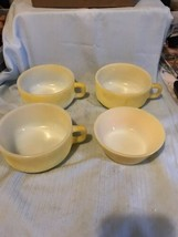 Vintage Fire-King Anchor Hocking 1 Bowl And 3 Soup Cups - $14.99