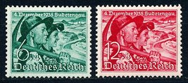 Sudetenland and Hitler Culture Fund Set of 2 Germany Stamps Catalog B132-33 MNH