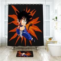 Cartoon 59 Shower Curtain Waterproof Polyester Fabric & Bath Mat For Bat... - $15.30+