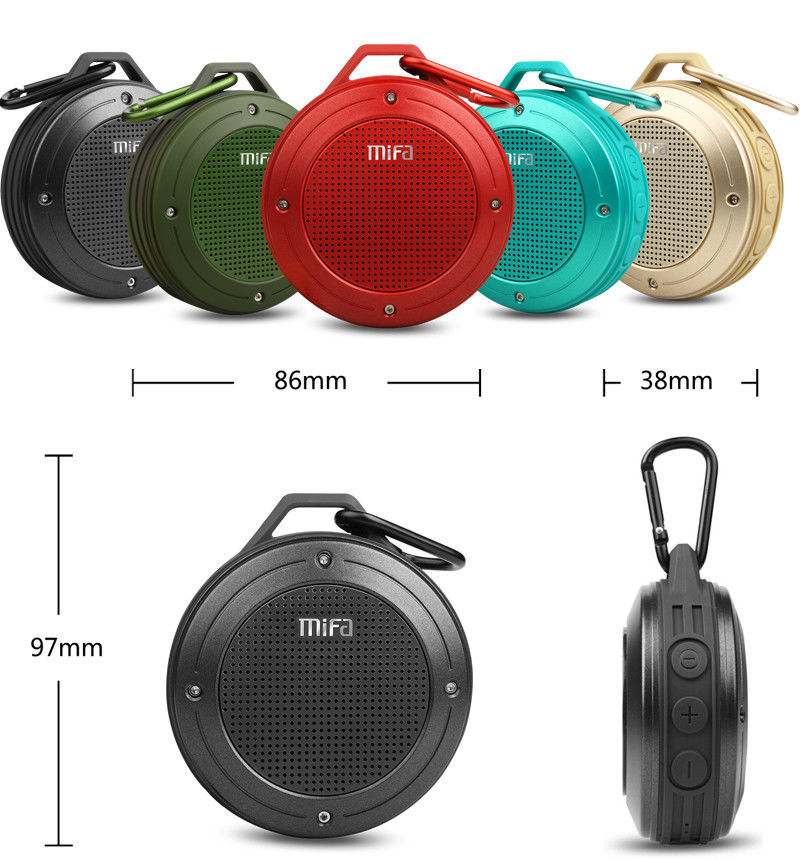 Wireless Bluetooth 4.0 Stereo Bass Portable Waterproof Speaker F10 Outdoor IPX6