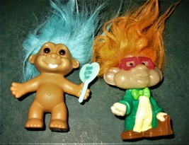 "Russ Trolls - Lot of 2-  Nerd IQ  Trolls W / glasses 3"" Rare & Mom of th... - $6.50"