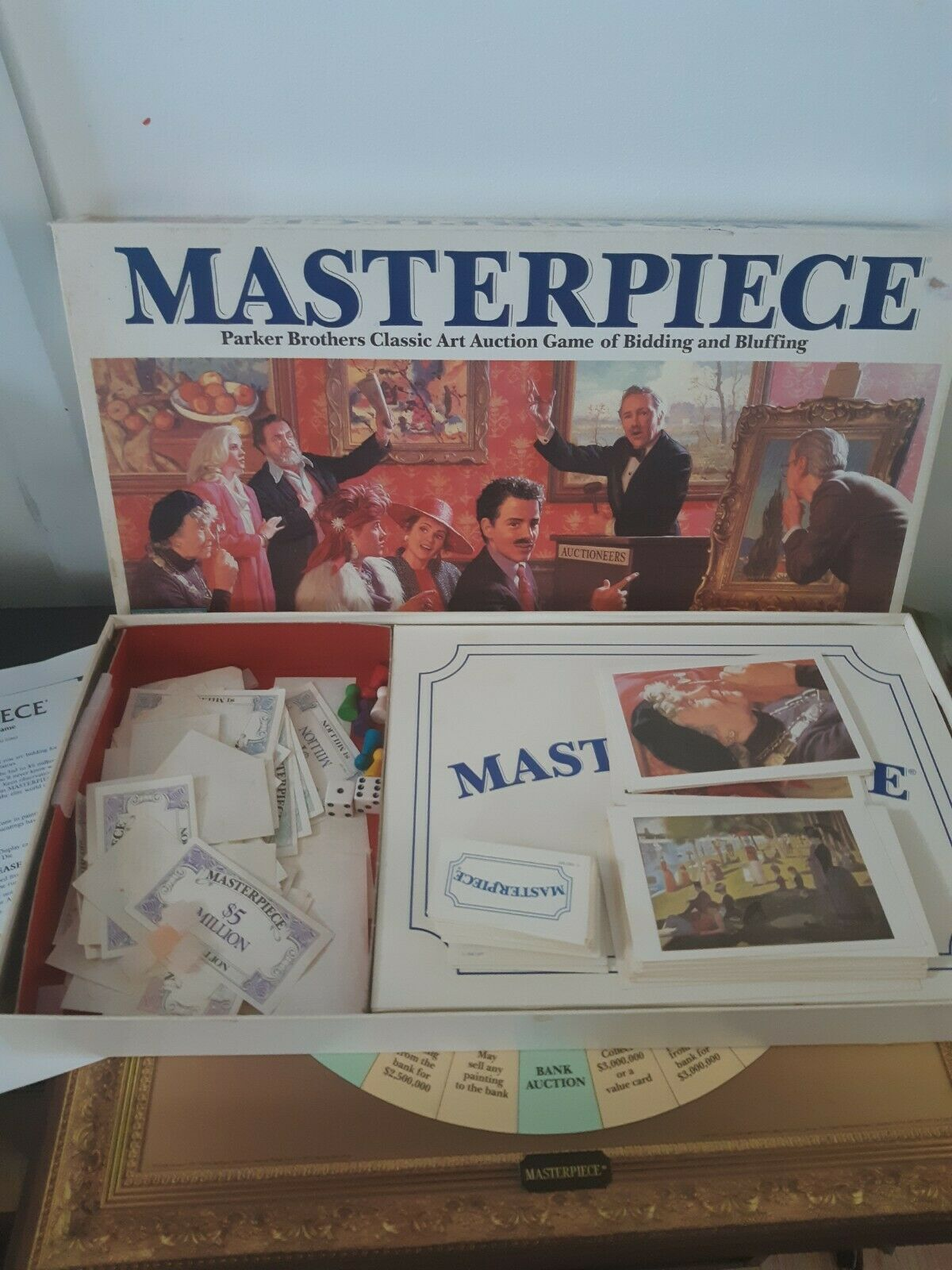 Vintage Masterpiece Board Game 1987 Parker Brothers 100% Complete 3 to 6 Players