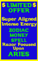 Money Spell Highly Charged Spell For Aries Millionaire Magic for Luck  M... - $47.00