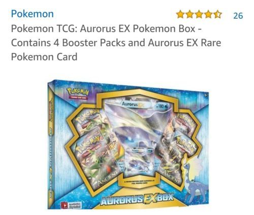Pokemon Aurorus EX Box