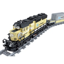 New Battery Powered Maersk Train Container Diesel Electric Freight Fit L... - $116.99