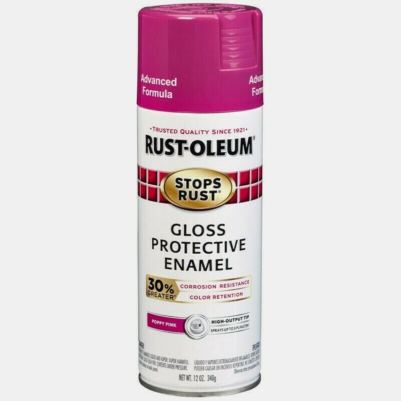 Primary image for Rust-Oleum POPPY PINK 12 oz. Stops Rust PROTECTIVE ENAMEL Spray Advanced 338931