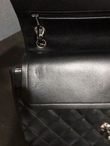 100% Authentic Chanel BLACK QUILTED LAMBSKIN JUMBO CLASSIC DOUBLE FLAP BAG SHW image 8