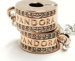 Pandora Rose Insignia Safety Chain Clear Cubic Zirconia NWOT Rose Gold 19724467