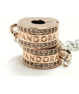 Pandora Rose Insignia Safety Chain Clear Cubic Zirconia NWOT Rose Gold 19724467 - $40.84