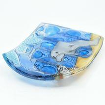 Fused Art Glass Sea Turtle Dolphin Manatee Ocean Soap Dish Handmade in Ecuador image 3