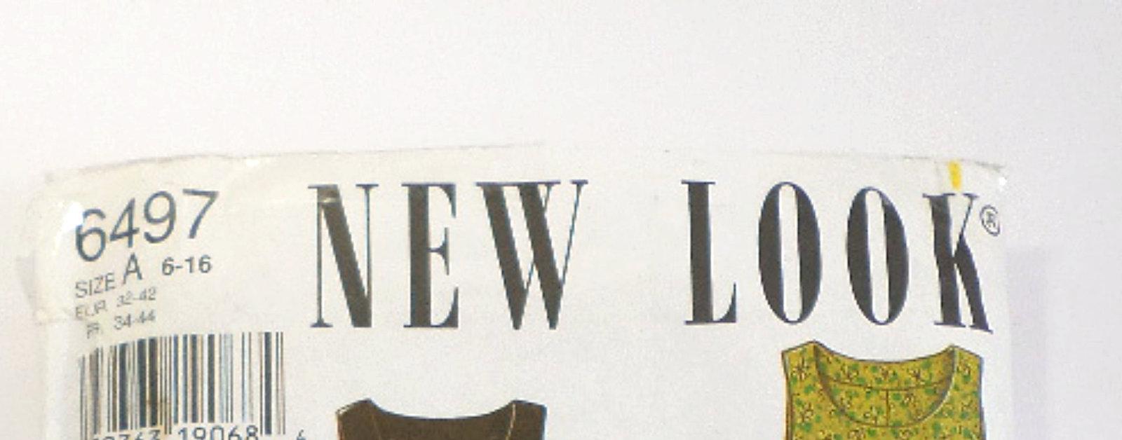 New Look Vintage Uncut Pattern #6497 Misses' Size A 6-16, Simplicity Separates