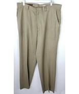 Perry Ellis Pantalon 36x32 Marron Plat Avant - $29.69